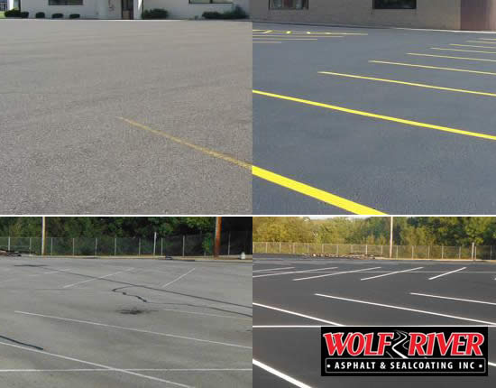Iola Sealcoating and Crack Filling Parking Lots